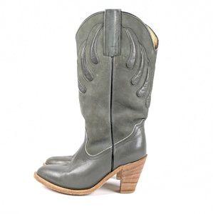 Frye Grey Western Cowboy Boots